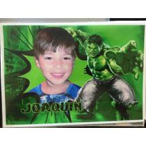 Lamina Comestible Personalizada Fototorta Hulk Vengadores