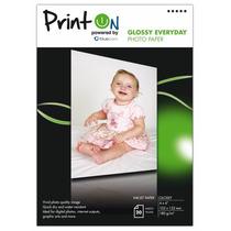 Papel Fotográfico Printon Glossy 4 X6 20 Hojas 180 G/m2