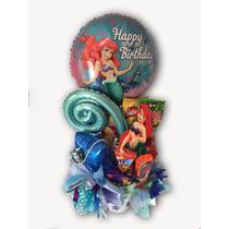 Arreglo Con Botana Y Globos La Sirenita Disney Cumplaños