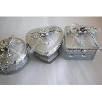 Portas Jóias ( 3 Peças) Modelos ( Coração,quadrado,redondo)