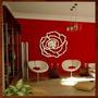 Quadro Decorativo Escultura De Parede Mdf Flor Rosa Recorte