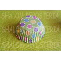*capacillos Verde Pastel Lunares Baby Shower Cupcake Fondant