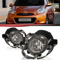 Kit Farol Milha Auxiliar Nissan March 2013 2012 2011 Neblina