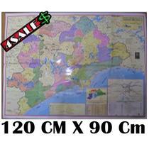 Mapa Grande São Paulo E Baixada Santista 120cm X 90cm