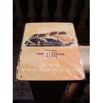 Vw Calendário 27 X 35 Cms Fusca Alemão Oval Bug Barndoor