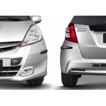 Borracha Proteção Para-choque Honda Fit + Soleira De Portas