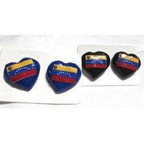 Zarcillos De La Bandera Venezuela - Corazón Porcelanicrom