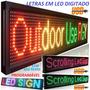 Letreiro Painel Digital Led Digitado Editavel Programavel 1m