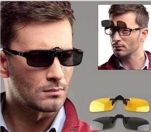 1d3d2bf93 Lentes Óculos Clip On Discreto Polarizado Proteção U V 400 - R$ 58 ...