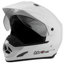 Capacete Motard Pro Tork Th1 Helmet Viseira Motocross Branco