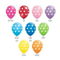 10 Globos De Puntos Polka Dots Lunares Decoración Fiestas