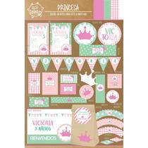 Kit Imprimible Princesa Carroza Candy Bar Cumpleaños