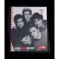 Envio Cuaderno Carta One Direction Rojo Cubierta Plastica Ve