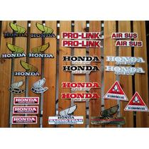 Kit Com 24 Adesivos Originais De Moto Honda