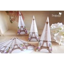 Cajita Dulcera Torre Eiffel Carton Recuerdos Xv Años
