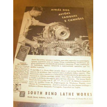 ( L - 290 ) Propaganda Antiga 2 Guerra Torno South Bend