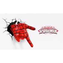 Luminária 3d Light Fx Mão Homem Aranha Spider Man Marvel