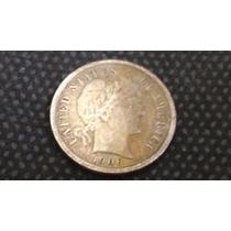Moeda Eua Prata One Dime Dollar Rara 1906