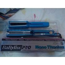 Plancha Babyliss Nano Titanium Original Ancha Y Fina