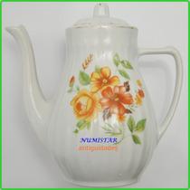 Bule Porcelana Pozzani Jundiaí Chá Café Ou Decoração Antigo