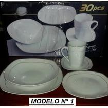 Vajilla De Porcelana 30 Piezas