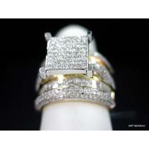 Designer Anel E Separadores De Diamantes Em Ouro 18k