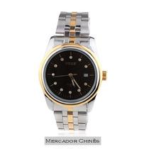 Relógio Mike 305 Stainless Steel Preto/dourado Quartz