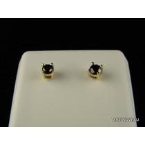3cts Brincos Diamantes Negros Mossanite C/certificado