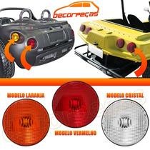 Lanterna Traseira Adaptacao Jeep Buggy Reboque 154mm 3 Cores