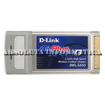 Adaptador Wireless 108mbps Placa Pcmcia D-link Dwl-g650