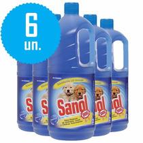 Desinfetante Veterinário Cães 2l Kit 6 Sanol Elimina Odores