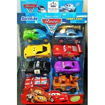 Kit 8 Carrinhos Filme Carros 2 Mcqueen