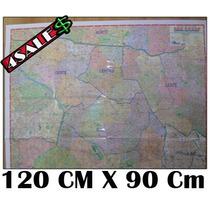 Mapa São Paulo Centro Expandido 120cm X 90cm + Nf