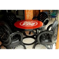 Conjunto De Mesa Com 4 Cadeiras Do Lixo Para O Luxo