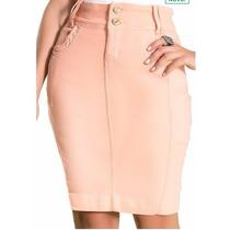 Saia Sarja Moda Evangelica Laura Rosa 55cm Coleção 2017
