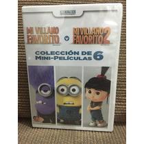 Mi Villano Favorito 1 Y 2 Y 6 Mini Películas Gru Minions Dvd