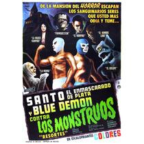 Posters El Santo Blue Demon El Vampiro De Colección
