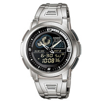 Relogio Casio Aqf 102wd-1 Preto Termômetro Crono Alarm