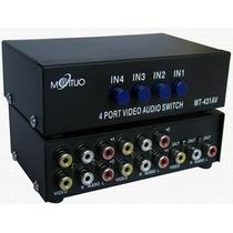 Seletor Devideo Composto 4x1 Mod 4/2 Mt-431av (rca) Switch