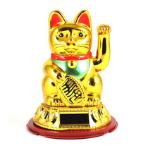 Gato Da Sorte Maneki Neko Dourado Japão Japones China Hachi8