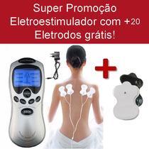 Fisioterapia Acupuntura Tens & Fes Portátil + 20 Eletrodos