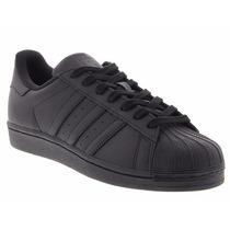 Tênis Adidas Star Superstar Foundation Low Preto All Black.
