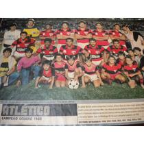 Poster Atlético Goianiense Campeão Goiano 1988 Placar