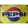 Cartel Antiguo Pepsi Chico 30x20cm Chapa Gruesa (0,89mm)