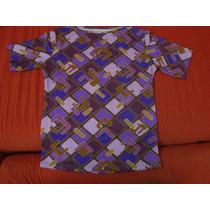 Blusa Estampada - Cores Roxa/lilás - Tam.médio-frete R$ 4,00