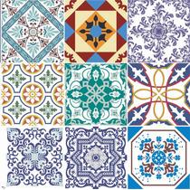 Adesivo Pastilha Azulejo Ladrilho Hidráulico Ou Parede 10cm