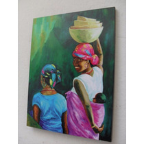 Cuadros Reproduccion Pinturas Arte Negras Africanas 27x42