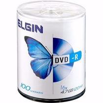 1200 Dvd-r Elgin Virgem 16x Com Logo - Frete Grátis - Rio Rj