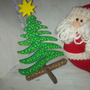 Arbol De Navidad Madera En Puntillismo