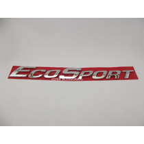 Emblema Ecosport Cromado Traseiro